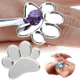 $enCountryForm.capitalKeyWord Canada - 1pc Mini Nail Art Metal Finger Ring Palette Mixing Acrylic Gel Polish Painting Drawing Color Paint Dish Glue Palettes Tools