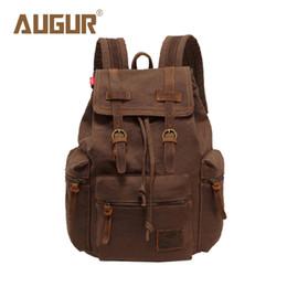 4e4ba1f58b4 Wholesale- AUGUR New Brand Fashion Men s Backpack Leisure Retro Canvas Bag  Women Backpacks For Teenage Girls School Bag AG0021