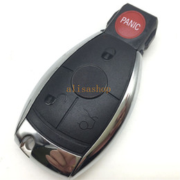 $enCountryForm.capitalKeyWord NZ - Replacements car key cover 3+1 buttons remote key case shell with blade for Mercedes Benz with logo (USA style)