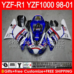 $enCountryForm.capitalKeyWord Australia - 8Gift 23Color Body For YAMAHA YZF 1000 R 1 YZFR1 98 99 00 01 61HM15 blue black YZF1000 YZF R1 YZF-R1000 YZF-R1 1998 1999 2000 2001 Fairing