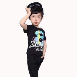 So Cool Hip Hop Baby Boys Sets Summer Shirts Shorts Kids Streetwear Clothes 2 10Yrs Children Clothing Set