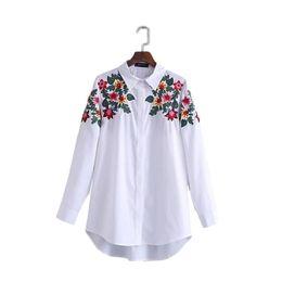 $enCountryForm.capitalKeyWord UK - Women full cotton floral embroidery white long blouse oversized long sleeve loose shirt office wear casua tops blusas TIO540384