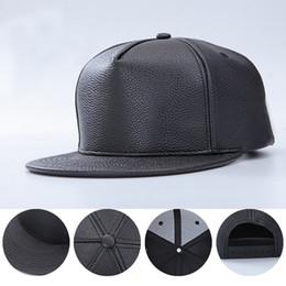 cce30d2f25be47 Adjustable DIY Blank PU Hats Hip Hop Snapback Baseball Caps Hiphop Hats  Flat Edge Unisex Sports Caps for Women Men Casual Hats
