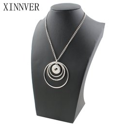 $enCountryForm.capitalKeyWord NZ - New Trendy Ethnic Style Fashion Metal Pendant Snap Necklace Fit Diy 18mm Snap Buttons Jewlery Wholesale Zg025 Christmas Gift