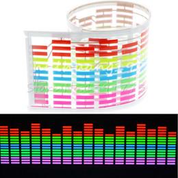 car sound music equalizer 2019 - Wholesale- Music Rhythm LED Flash Light Lamp Sound Activated Equalizer Car Sticker 70*16cm cheap car sound music equaliz