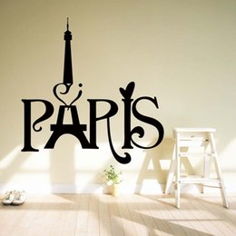 Eiffel Tower Decal Stickers For Wall NZ - For Eiffel Tower Paris Love Vinyl Art Quotes Personality Interesting Wall Stickers Home Mural Diy Decal Decor DIY