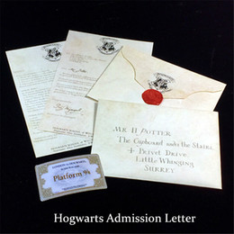 Toptan satış Harry Potter Hayranları için Yaratıcı Hogwarts Kabul Mektubu Harry Potter Retro Zarf Koleksiyonu