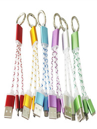 $enCountryForm.capitalKeyWord Australia - High Speed 2in1 Key Chain USB Cable Portable braided power universal data line for Samsung S7 S6 Android phones