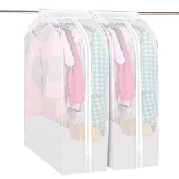 China Wholesale M L Transparent Clothes Dust Cover Wardrobe Storage Bags Garment Protector Dustproof Storage Bag Organization cheap transparent clothing cover suppliers