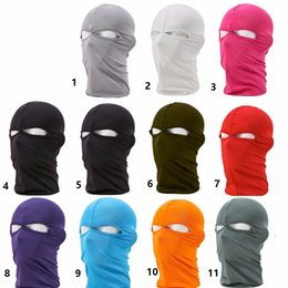 snowboard protector NZ - 2017Balaclava Mask Windproof Full Face Masks Ski Winter Hat Snowboard Face Hook Neck protector Cycling Bike Cap Scarf 45*26CM
