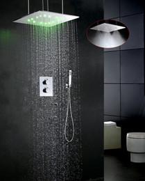 Conjunto de grifo de baño de lujo Conjunto de grifo de ducha con temperatura de agua LED Conjunto de grifo de ducha termostático con caja integrada 002T-20WMIL-F