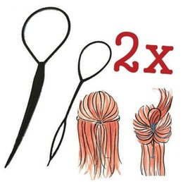 $enCountryForm.capitalKeyWord Canada - New brand Magic Large Small Topsy Tail Hair Braid Ponytail Styling Maker Tool Free Shipping 2pcs pack