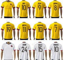 76c41bf3e68 ... Home Away 2017 Soccer Colombia Jersey Copa Ameirca 9 Radamel Falcao  Football Shirt Kits 10 James Rodriguez 11 .