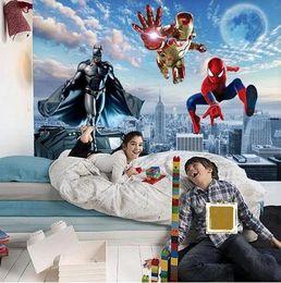 Custom 3D Photo Wallpaper Batman Iron Man Wallpaper Spider Man Wall Murals  Boys Bedroom Living Room TV Backdrop Wall Room Decor Part 93