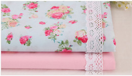 Designs For Beds Canada - 1 meter Korean pastoral design 100% cotton twill rose fabric for bedding and handmade DIY CR-938