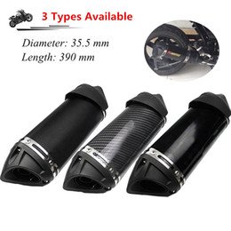 Street Dirt Bikes Canada - Length 390mm Universal Motorcycle Exhaust Muffler Pipe With DB Killer Modified Scooter Dirt Street Bike Motorcycle Diameter 35.5 mm