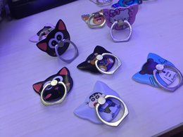Discount retail cell phone stands - NEW Metal simple cell phone finger ring holder cat stand for all brands of smartphone with retail packages