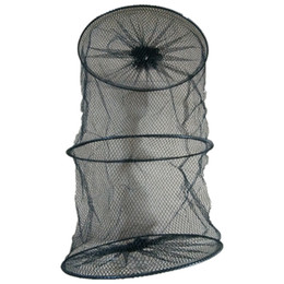 China D30cm*L50cm 2 section nylon Fishing cage Shrimp cage Outdoor fishing tools equipment rade de pesca black or green Random delivery YW-182-4-1 suppliers