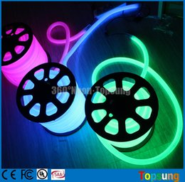 Wholesale 25M spool led neon rope light degree neonflex strip flexible neon wire mm diameter waterproof led m v multi colors