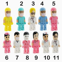 flash drive memory pen drives Canada - Doctor Nurse Series USB 2.0 Flash Memory Stick Pen Drive 4G 8GB 16GB 32GB dentist USB Flash Drives U dick customized flash drives