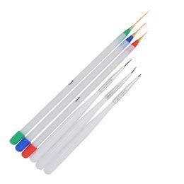 Chinese  Wholesale- 6Pcs Pack 3 Fine Drawing 3 Striping Liner Design Set Nail Tool 6Pcs Pack Nail Art Pens Brushes 40 manufacturers