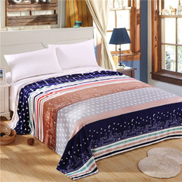 Portable Beds Adults Canada - Bedding bedspread blanket 120x200cm High Density Super Soft Flannel Blanket to on for the sofa Bed Car Portable Plaids