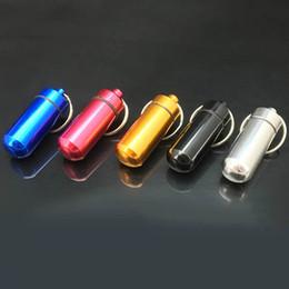 DHL Travel алюминиевый сплав Водонепроницаемый чехол для ключей с чехлом Key Chain Medicine Хранение Органайзер Держатель для бутылок Контейнер KeyChain 15x48mm