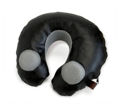 2017 neck pillow speakers Fashion air travel inflate neck pillow with  speaker, inflatable neck pillow