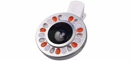 China Universal Phone Lenses Kit LED Selfie Filling Light Clips 0.4X LED Selfie Light Wide Angle Macro Lentes For IOS Android smart phone suppliers