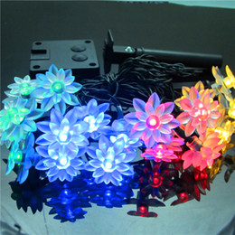 $enCountryForm.capitalKeyWord Australia - Solar LED Lamp Outdoor Waterproof 19.6FT 30LEDs Lotus Flower Decoration Christmas Garden Holiday Solar Power String Lights