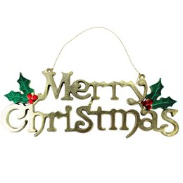 decorations party letters 2019 - Christmas Tree Decorations MERRY CHRISTMAS Alphabet Letter Card For Home Party Wedding Door Window Decor Wholesale Free