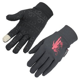 Spring Gloves Canada - 2016 male and female general outdoor sports cycling gloves all finger spring and autumn, silicone touch screen gloves