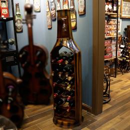 slender large bottleshape both sides open wood red wine rack u0026 glass holder furnishing articles for home decoration - Wine Racks For Sale