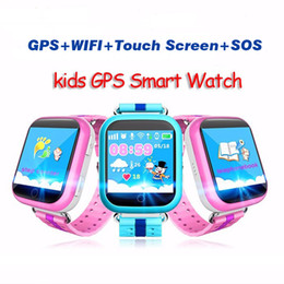 Children Baby Kids Smart Watch Phone NZ - Q100 Smart Baby children Kids Smart watch phone GPS Tracker Smart Touch Screen Watch kids GPS Wifi Location child SOS Anti-Lost Device