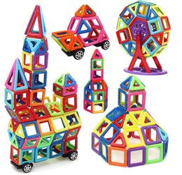 Puzzles Magnets NZ - 76 pcs Magnetic Blocks Toys 3D Magnet Bricks Stacking Set Magnetic Blocks Building Puzzle Education Toys
