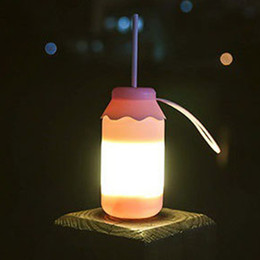 Rechargeable Bottle Night Light Creative Cartoon Children Mini Bedroom  Bedside Led Outdoor Light New Strange Gift Party