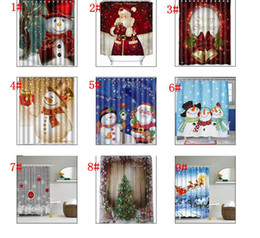 Shower bath curtainS online shopping - Snowman Shower Curtain Merry Christmas Sleepy Snowman Pattern Bathroom Shower Curtain Christmas Bath Curtain cm KKA2106