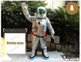 kosmonaut maskottchen kostüm versandkostenfrei erwachsene größe, billige hohe qualität karneval party fancy plüsch gehende spaceman maskottchen kid size. im Angebot