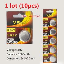 $enCountryForm.capitalKeyWord NZ - 10pcs 1 lot CR2477 3V lithium li ion button cell battery li-ion CR 2477 3 Volt coin batteries VSAI Free Shipping