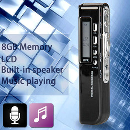 Chinese  Wholesale-8GB 650Hr USB LCD Screen Digital Audio Voice Recorder Dictaphone MP3 Player ANG manufacturers