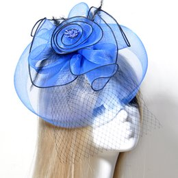 bf1c4ecddaa Race Day Hats NZ - new handmade blue netting fascinator hat feathers wedding  party races cocktail