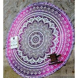 Discount indian beds - New Summer Indian Mandala Bedspread Tapestry Shawl Wall Hanging Bohemian Ethnic Throw Beauty Wall Decor Beach Towel Big