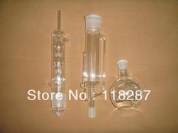 Gros- 500ml Soxhlet Extractor, condensateur, tube de pompage et ballon plat, un ballon à fond plat, verrerie de laboratoire en Solde