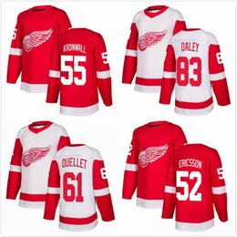 530c78bb815 Trevor Daley Jersey 83 Niklas Kronwall 55 Jonathan Ericsson 52 Xavier  Ouellet 61 Mens Ice Hockey Jerseys 2018AD Detroit Red Wings S-3XL