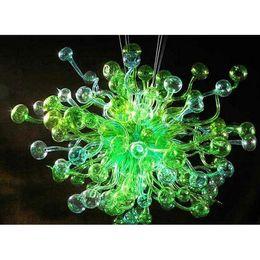 $enCountryForm.capitalKeyWord NZ - Custom Made Green Blown Glass Designed Chandelier Modern Art Deco Shopping Mall Decor Hanging Murano Glass Pendant Lamps Green Glass Light