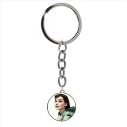 $enCountryForm.capitalKeyWord NZ - Exquisite popular star character keychain Famous American actors Marilyn Monroe art picture ring jewelry party women gift NS487