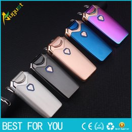 Discount electronic lighters jobon - New hot Jobon USB dual arc lighter charging windproof thin ultra-thin metal creative electronic cigarette lighter