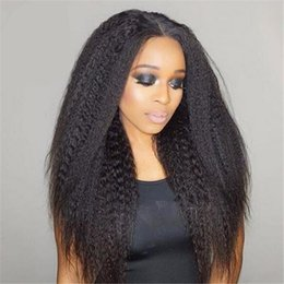 $enCountryForm.capitalKeyWord Australia - Celebrity Wig Full Lace Wig Kinky Straight Virgin Brazilian Human Hair Lace Front Wigs for Black Women Free Shipping