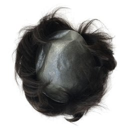 B-zona piel fina Súper PU V Loop Virgen cabello humano Tupé para hombre en venta