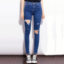$enCountryForm.capitalKeyWord Canada - Fashion Casual Women Brand Vintage High Waist Skinny Denim Jeans Slim Ripped Pencil Jeans Hole Pants Female Sexy Girls Trousers
